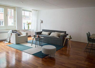 Leegstaande woning in Amsterdam ingericht met cubiqz meubels en woonaccessoires